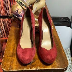 Red Velour Heels